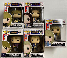 Funko Pop!  Def Leppard Set of 5 - New In Box. Shipped w/ Protectors.