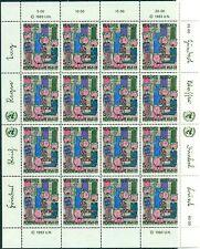 """Nations Unies Vienna  1983 - Michel n. 36/37 - Feuillets """"Droits de l'Homme"""""""