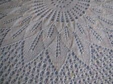 Knitted Intricate Christening Baby Round Shawl. Heirloom. New.White
