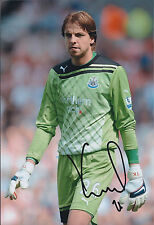 Tim KRUL SIGNED Autograph Newcastle United Signed 12x8 Photo AFTAL COA
