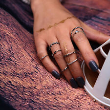 8pcs Boho Women Stack Above Knuckle Ring Midi Finger Tip Rings Set Party Jewelry