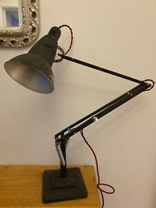 vintage 1227 Herbert Terry anglepoise desk lamp Early c1940's .Crabtree original