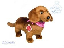 Standing Dachshund Plush Soft Toy Dog by Teddy Hermann. Sold by Lincrafts. 91912