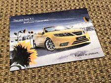 Scarce Saab 9-3 BioPower Convertible Sales Brochure