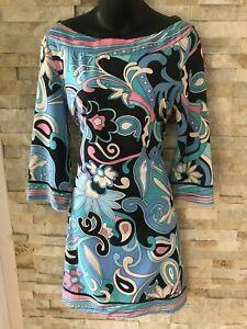 Stunning Designer Emilio Pucci Silk Jersey Dress - Size 40 (10-12)