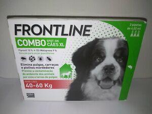 Frontline¹Combo antiparasitaire tique puce flea tick treatment chien +40 kg 3pp