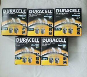 10 x DURACELL 28 Watt A-shape Eco Halogen Light Bulb E27 370 Lumen Warm White