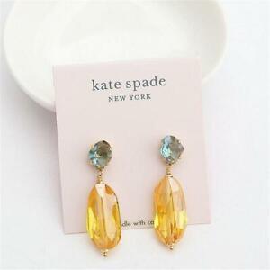 Kate Spade New York Treasure Trove Drop Earrings Yellow