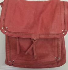 SAK VENTURA CONVERTIBLE PURSE/BACKPACK/MESSENGER/CROSS BODY CORAL LEATHER