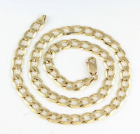 Vintage Solid 9Ct Gold Flat Curb Link Chain Necklace 20 1/2 inches