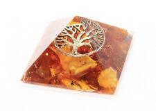 5 pcs. TREE OF LIFE Meditation Orgone Energy Pyramid Baltic Amber Orgonite