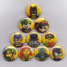 "LEGO BATMAN 1"" PINS / BUTTONS (joker harley set logos dc toys poster minifigures"