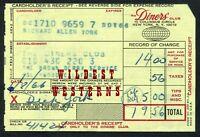 BEWITCHED SIGNED C Card Carbon DICK YORK Brown Derby Hollywood Vintage Original