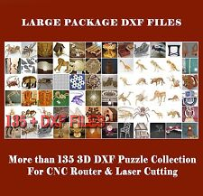 MORE THAN 138+ DXF files COLLECTION 3D PUZZLE for CNC ROUTER & LASER CUTTING