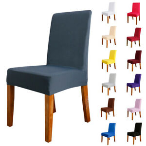 1-20Pcs Dining Chair Covers Slipcovers Stretch Wedding Banquet Party Seat Cover