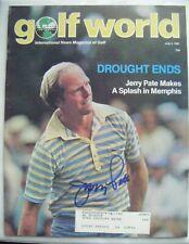 JERRY PATE signed 1981 GOLF WORLD magazine AUTO Autographed ALABAMA CRIMSON TIDE