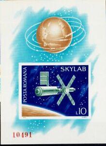 Romania Imperforated Block #118 1974 SKYLAB -  Cosmonautics MNH