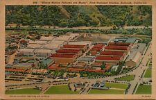 VTG Aerial View of First National Studios in Burbank California CA Postcard