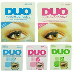 DUO Eyelash Glue 9g Adhesive Strong Clear/Black Waterproof False Eyelashes UK