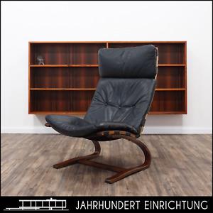 Rybo Rykken   KENGU   Ledersessel   60er Mid Century Teak Chair   Vintage Sessel