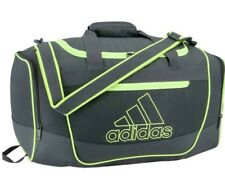 Adidas Defender III Small Duffel Onix / Hi Resolution Yellow NEW NWT