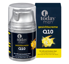 2 x 50ml today Men Face Cream Q10 Calms the skin after shaving NEW