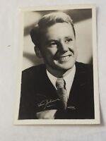 Van Johnson  signed Real Photo Post Card RPPC Exhibit White Border W J Gray LA