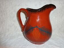 Ned Foltz Pottery Pine Cone Decorated Pitcher, Signed & Dated 1995, j