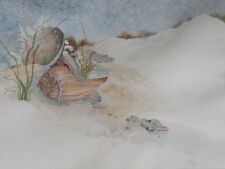 CALIFORNIA ARTIST ESTHER HALDEMAN (d) WATERCOLOR: TREASURE FROM THE SEA, 17 x 23