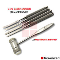 Dental Osteotome Bone Ridge Expansion Chisels Extraction Surgical Mallet Hammer