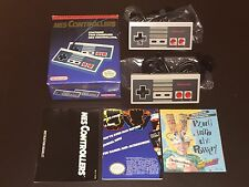 2 Nintendo Nes Controllers Complete CIB Very Good Condition