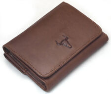 Men's Genuine Leather Wallet Trifold 9 Credit Card Holders Coin Pocket Purse