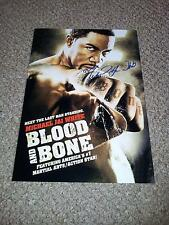 "BLOOD AND BONE PP SIGNED 12"" X 8"" A4 PHOTO POSTER MICHAEL JAI WHITE MARTIAL ARTS"