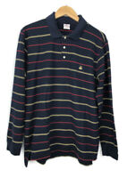 Brooks Brothers 346 Long Sleeve Polo Shirt Men's Size Large Rugby Striped