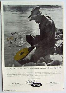 CAPITOL RECORDS 1961 Poster Ad GOLD LP RECORD