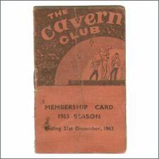 The Beatles 1963 Cavern Club Membership Booklet (UK)