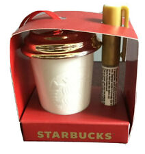 Starbucks Holiday DIY Siren Ornament White Gold Create Your Own 2013 NEW-no card