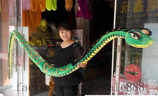 "134"" Stuffed Animal Emulational Anaconda Green Boa Snake Plush Toys Halloween US"