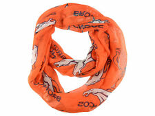 Denver Broncos Sheer Infinity Neck Scarf Spring Fall Winter NEW - Orange