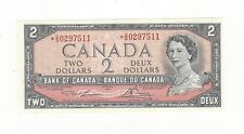 **1954**Canada $2 Note, Lawson/Bouey # *OG 0297511 BC-38dA Replacement Note