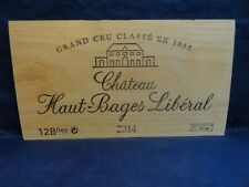 2014  CHATEAU HAUT BAGES  LIBERAL  WOOD WINE PANEL END