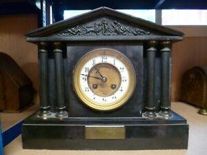 Antique Slate and Marble mantle clocks