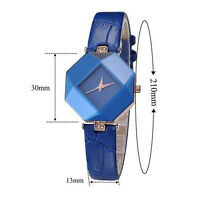 Elegant Women's Dress Crystal Watches Leather Strap Analog Quartz Wrist Watch FT