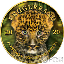 BABY LEOPARD Krugerrand Big Five 1 Oz Silver Coin 1 Rand South Africa 2020