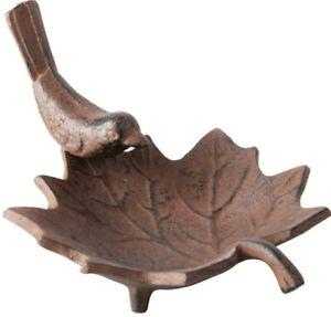 Cast Iron Leaf Bird Bath, 17 x 4cm