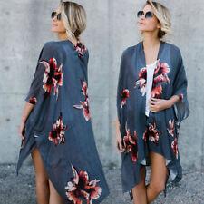 XL US Stock Womens Kimono Boho Summer Cover Up Beach Bikini Dress Top Sundress
