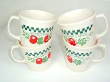 Vtg Corelle Corning Farm Fresh Apples Red Green Homemade Coffee Cup Mug Set of 4