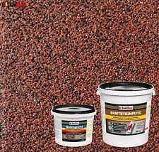 Buntsteinputz SET Mosaikputz BP 80 (rotbraun, schwarz) 25 kg + Quarzgrund 4 kg