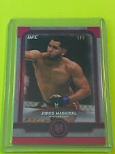2019 Topps UFC Museum Collection JORGE MASVIDAL Ruby Parallel #3/8