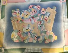 NEW LARGE TEDDY BEAR CRADLE BABY NURSERY PANEL QUILTS HOME BABY DECOR & PROJECTS